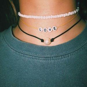 beachy pearl chocker necklace